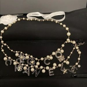 Coco Chanel Pearl & Charm Necklace/Belt